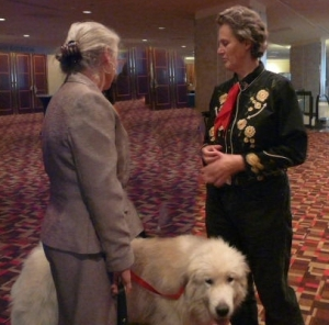 Dr Temple Grandin,Jeannie Bolstridge, and Max the therapy dog